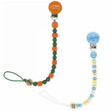 Bink Link Pacifier Attacher - 2 Pack, Peas and Carrots/Candy Man