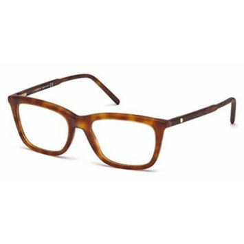 Mont Blanc - MB0553, Geometric, acetate, men, LIGHT HAVANA(053 B), 53/18/145