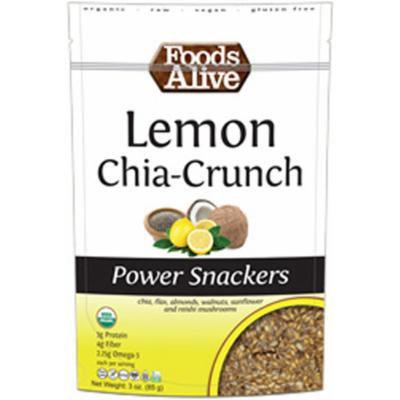 Foods Alive Lemon Chia-Crunch Power Snacks-3 oz Bag