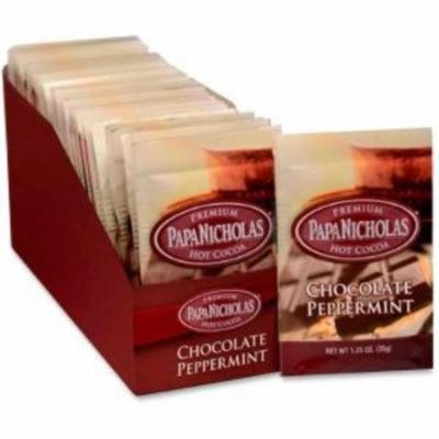 Papanicholas Coffee Chocolate/mint Hot Cocoa - Caffeinated - Hot Cocoa, Chocolate Peppermint - 24 Packet - 24/carton (pco-79424)