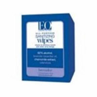 Eo Products 0753996 Hand Sanitizer Lavender Wipes, Case of 24