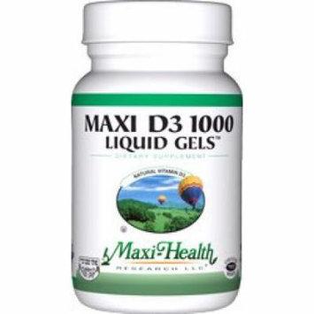 Maxi Health D3 1000mg Liquid Gels - Natural Vitamin D3 - Nutrition Supplement - 90 Capsules - Kosher