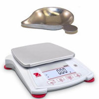 Ohaus Scout SPX1202-Scoop Portable Balance 1200 x 0 01g with Scoop