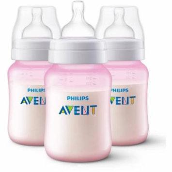 Philips Avent Anti-Colic Pink 9-oz Baby Bottles, BPA-Free, 3pk
