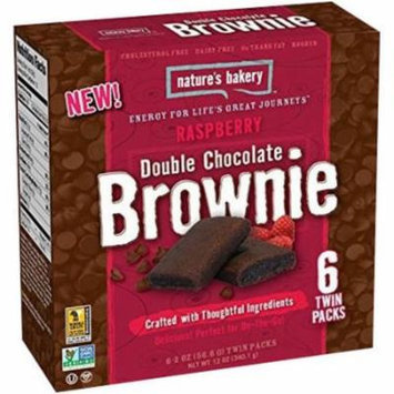 Nature's Bakery Raspberry Double Chocolate Brownie, 12 oz, (Pack of 6)