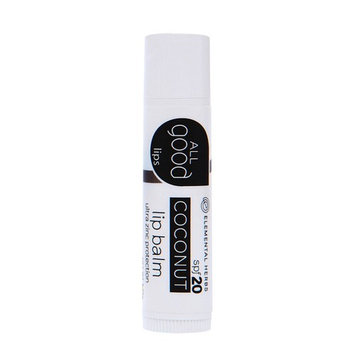Elemental Herbs - All Good Lips SPF 20 Lip Balm Coconut - 4.25 Grams