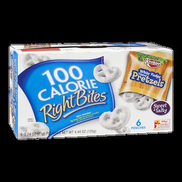 100 Calorie Right Bites White Fudge Dipped Pretzels - 6 CT
