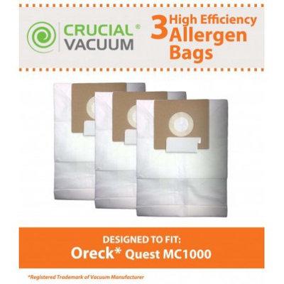 Crucial Vacuum 3 Oreck Quest MC1000 Bags, Part # PK12MC1000
