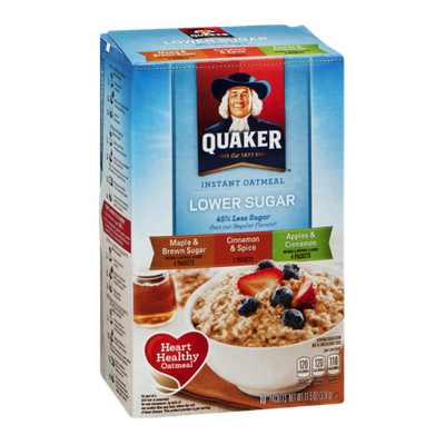 Quaker Instant Oatmeal Lower Sugar Variety Pack - 10 CT