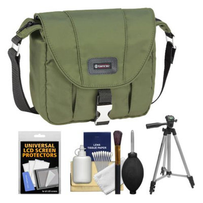 Tamrac 5421 Aria 1 Compact / ILC Camera Shoulder Bag (Moss Green) with Tripod + Cleaning Kit