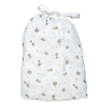 Under The Nile Organics Fitted Crib Sheet in a Bag - Animal Print