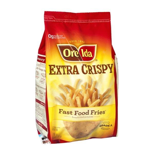 Ore-Ida Fast Food Fries French Fried Potatoes Extra Crispy