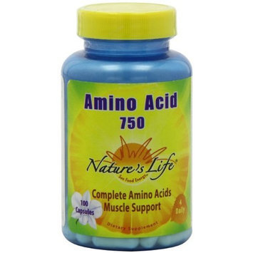 Nature's Life Amino Acid Capsules, 750 Mg, 100 Count