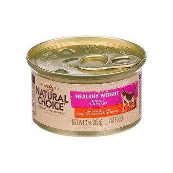 Natural Choice Cat Natural Choice Healthy Weight Adult Chicken and Liver Formula Chunks in Gravy Cat Food Cans, 3-Ounce