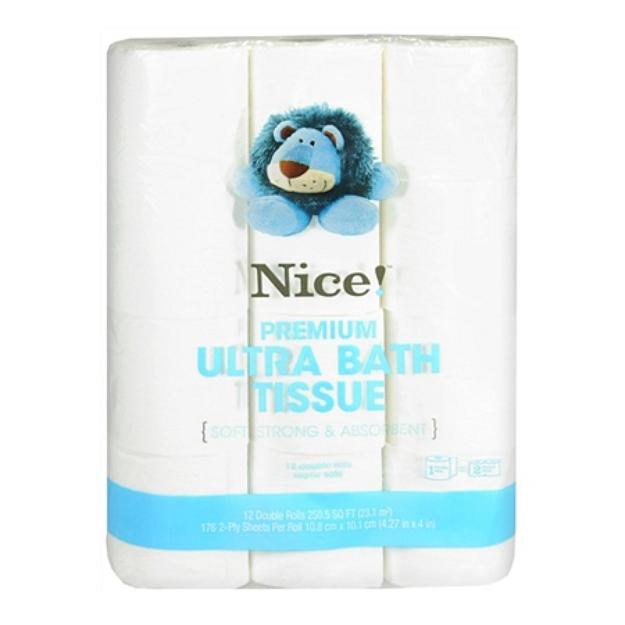 Nice! Premium Ultra Bath Tissue / Toilet Paper 12 Rolls