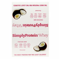 Simply Protein Whey Protein Bars, Coconut, 12 ea