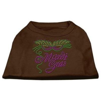 Ahi Mardi Gras Rhinestud Shirt Brown Lg (14)