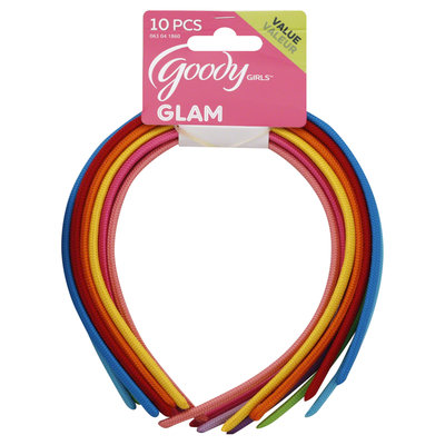 Goody Products Inc. Girls Shoestring Fabric Headbands, 10 pcs