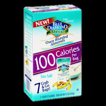 Blue Diamond Natural 100 Calories Sea Salt Oven Roasted Almonds - 7 PK