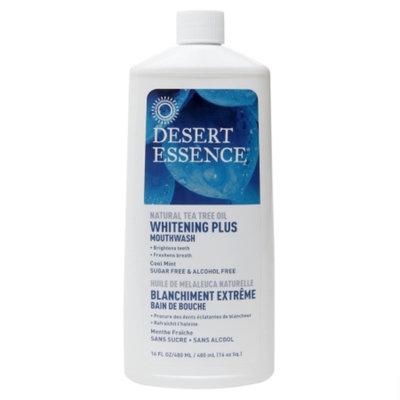 Desert Essence Natural Tea Tree Oil Mouthwash - Whitening Plus, Cool Mint, 16 fl oz