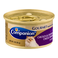 Companion Gourmet Food For Cats Chicken & Cheddar Cheese Dinner
