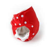 Babykicks 3G Pocket Diaper, Poppy/White Snaps (Discontinued by Manufacturer)