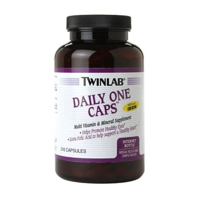 Twinlab Daily One Multivitamin Caps without Iron, 216 ea
