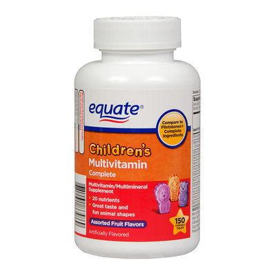 Equate Children's Complete Assorted Fruit Flavored Multivitamin/Multimineral Supplement