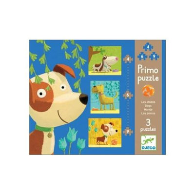 Djeco Dogs Primo Puzzles (19 pc)