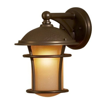 allen + roth Aztec 1-Pack 11 Inches-In Antique Bronze Portfolio Outdoor Wall Light 39327