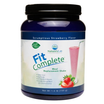 Nature's Lab Fit Complete - Meal replacement Shake, Strawberry, 1.5 lb