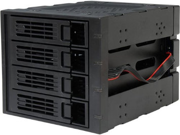 Rosewill RSV SATA Cage 34 Black 3x5 25 Amp 34 To 4x3 5 Amp 34 Hot Swap SATAIII Amp 47 SAS Hard Disk Drive Cage H3C0E0NGL-1610