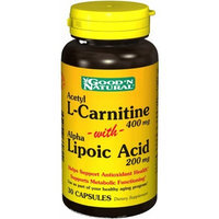 Good 'N Natural - Acetyl L-Carnitine with Alpha Lipoic Acid 400 200 mg. - 30 Capsules