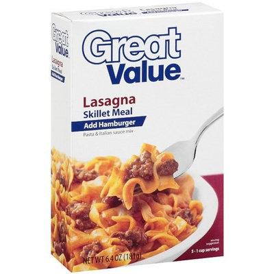 Great Value: Lasagna Skillet Meal, 6.40 oz