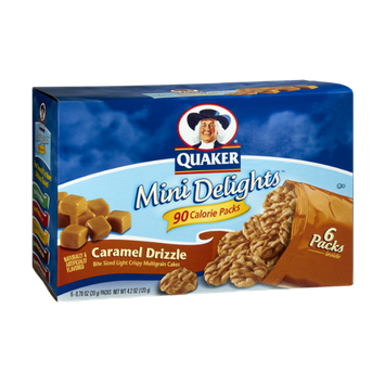 Quaker® Mini Delights 90 Calorie Packs Caramel Drizzle Bite Sized Multigrain Cakes