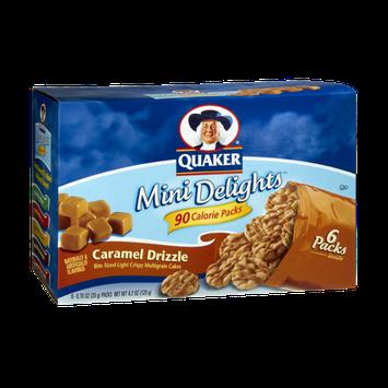 Quaker Mini Delights 90 Calorie Packs Caramel Drizzle Bite Sized Multigrain Cakes