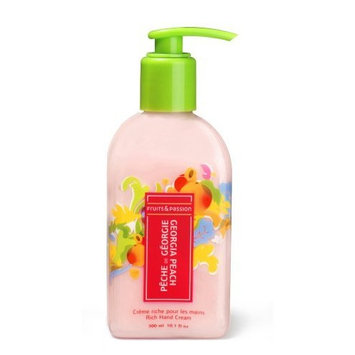 Fruits & Passion Fruity Hand Cream, Georgia Peach, 10.1-Ounce Bottle