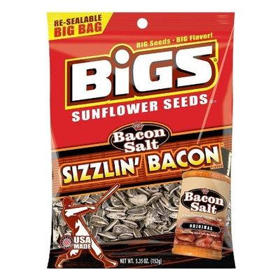 BIGS Bacon Salt Sizzlin' Bacon Sunflower Seeds, 5.35-Ounce Bag(Pack of 12)