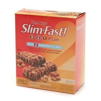 Slim-Fast 3-2-1 Plan 200 Calorie Meal Bars 5-Pack Chocolate Peanut Caramel