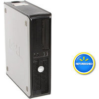 Optiplex Dell Off-Lease, Refurbished Black 755 Desktop PC with Intel Core 2 Duo Processor, 4GB Memory, 750GB Hard Drive and Windows 7 Professional (Monitor Not Included)