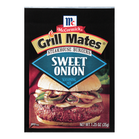 McCormick® Grill Mates® Sweet Onion Steakhouse Burgers Seasoning Mix