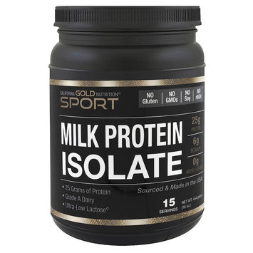 California Gold Nutrition Milk Protein Isolate 85% Milk Protein Ultra-Low Lactose