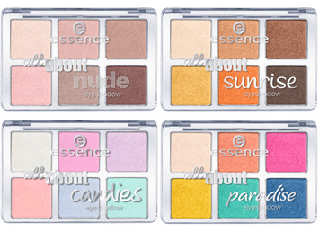 Essence All About … Eyeshadow Palettes (6 shades)