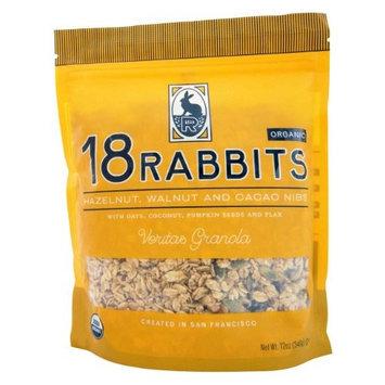 18 Rabbits Organic Veritas Granola, Hazelnut, Walnut and Cacao Niibs, 12-Ounce Bags (Pack of 3)