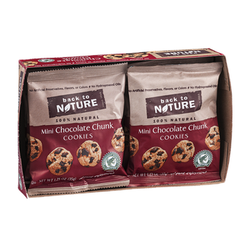 Back To Nature Cookies Mini Chocolate Chunk - 6 CT