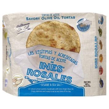 Ines Rosales 6. 34 oz. Sesame & Sea Salt Savory Olive Oil Tortas, Case Of 10