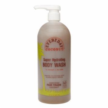 Alaffia EveryDay Super Hydrating Body Wash, Coconut, 32 fl oz