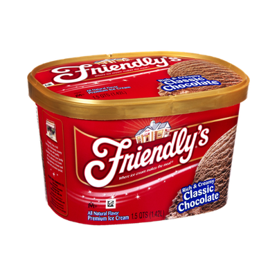 Friendly's Rich & Creamy Classic Chocolate Premium Ice Cream