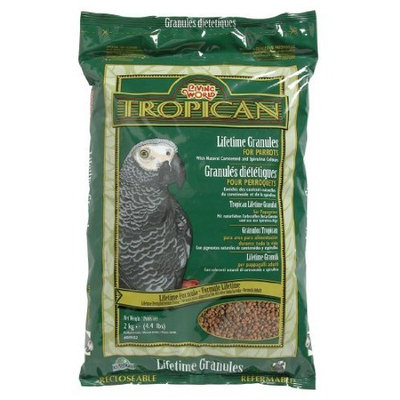 Tropican Lifetime Maintenance Food Granules for Parrots Size: 4.4 Pounds