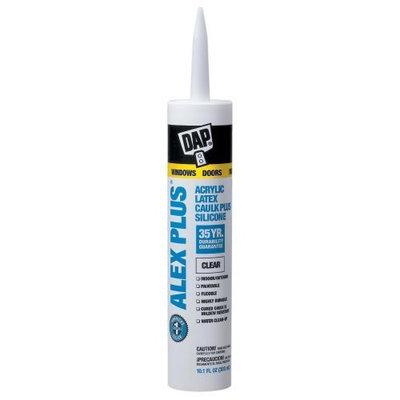 Dap 18156 Clear Acrylic Latex Caulk With Silicone 10.1-Ounce [Clear, 10.1 oz]